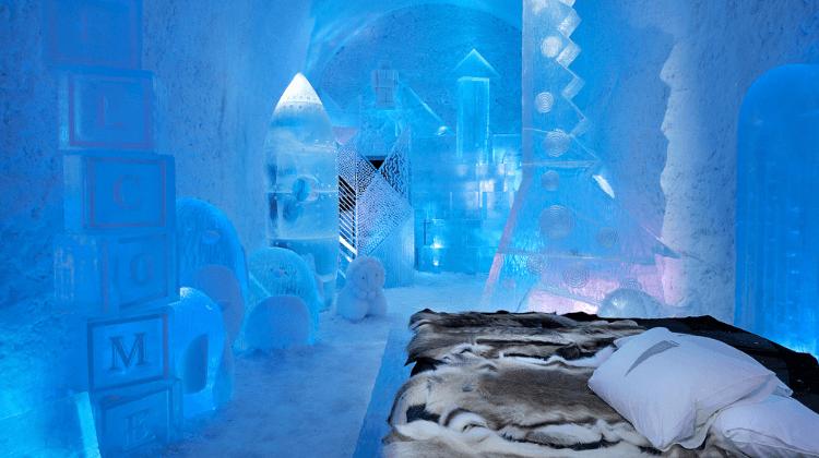 Jukkasjärvi's Ice Hotel in Sweden