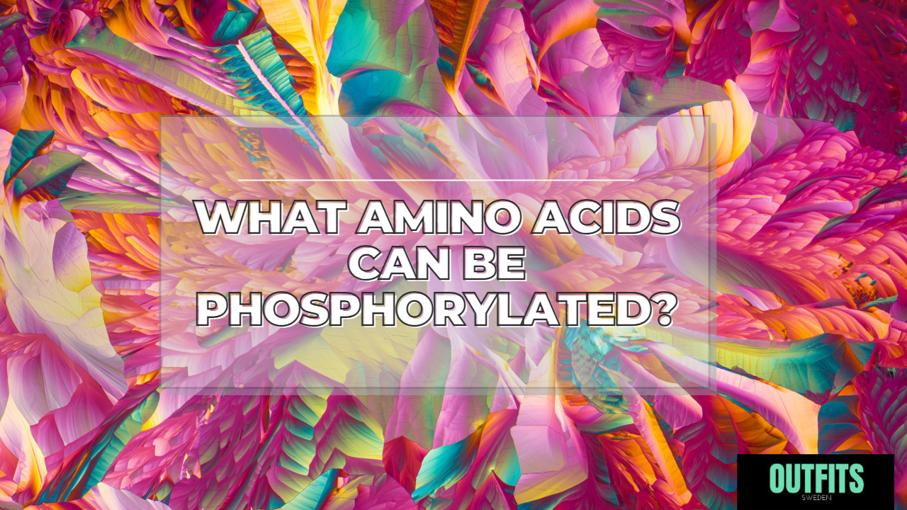 what amino acids can be phosphorylated
